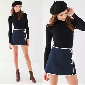 BDG Denim Piping Mini Skirt Medium NWT